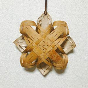 白樺クリスマスオーナメント(アドベントスターA/250mm)