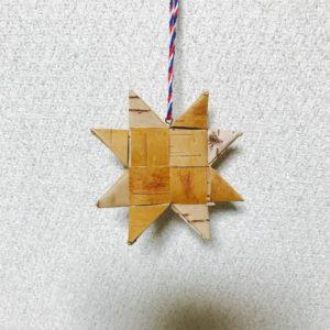 白樺クリスマスオーナメント(スターA/60mm)