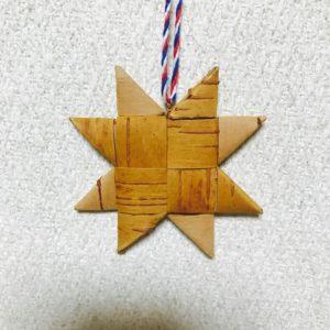 白樺クリスマスオーナメント(スターC/65mm)