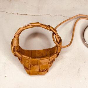白樺キーホルダー(舟形ワンハンドルかご)制作キット